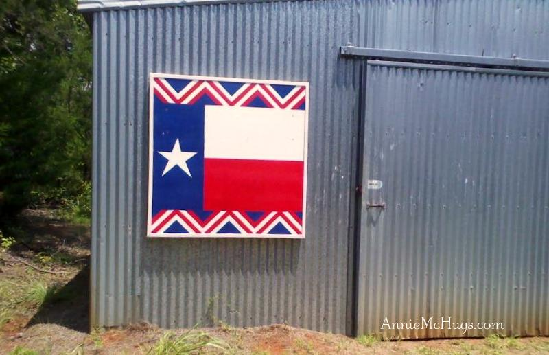 Barn Quilt Texas Flag
