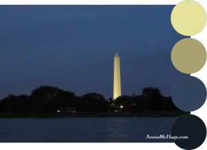 Washington Monument at night from the Potomac river