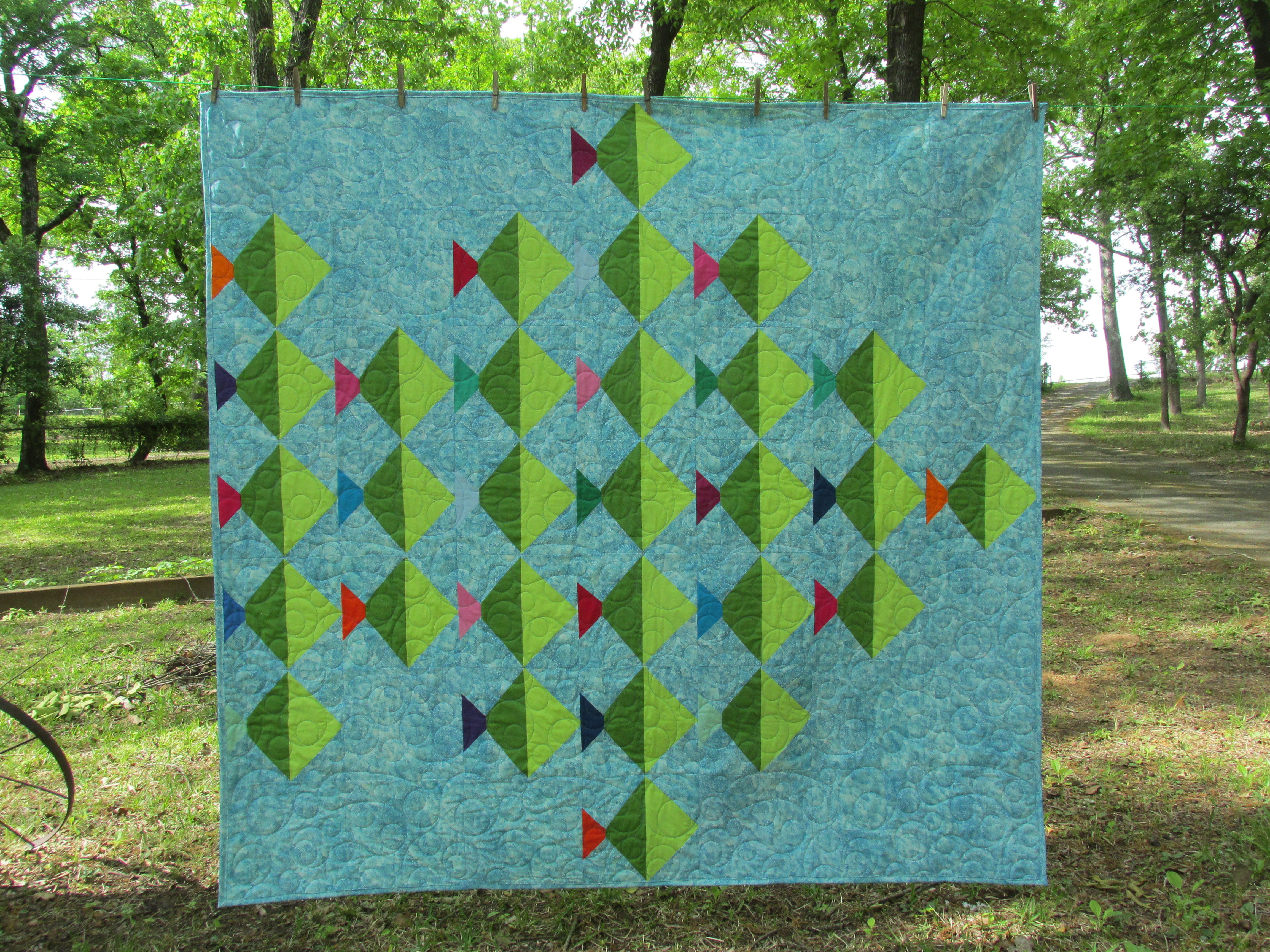 quilting therapy look quilt machine same is different my designs fish img