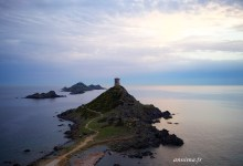 Ajaccio et les îles sanguinaires.
