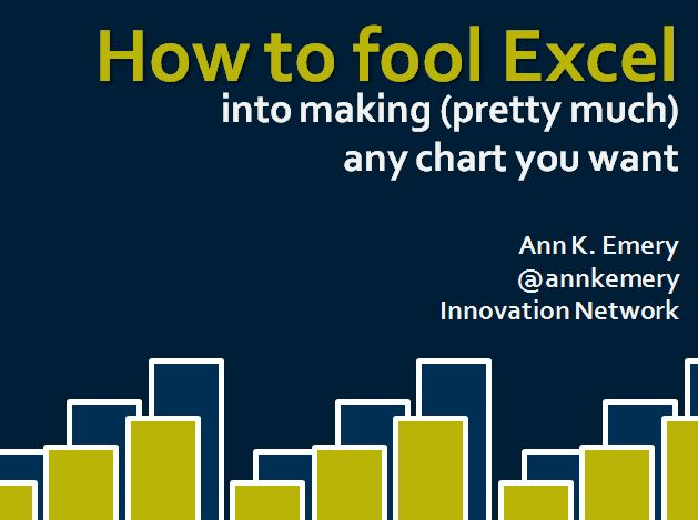 Excel Elbow Grease: How to Fool Excel into Making (Pretty Much) Any Chart You Want