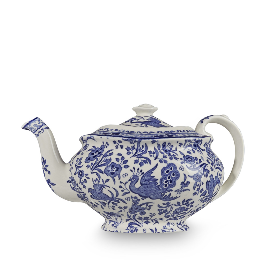 Teapot With Cup Blue Regal Peacock 5 Cup Teapot