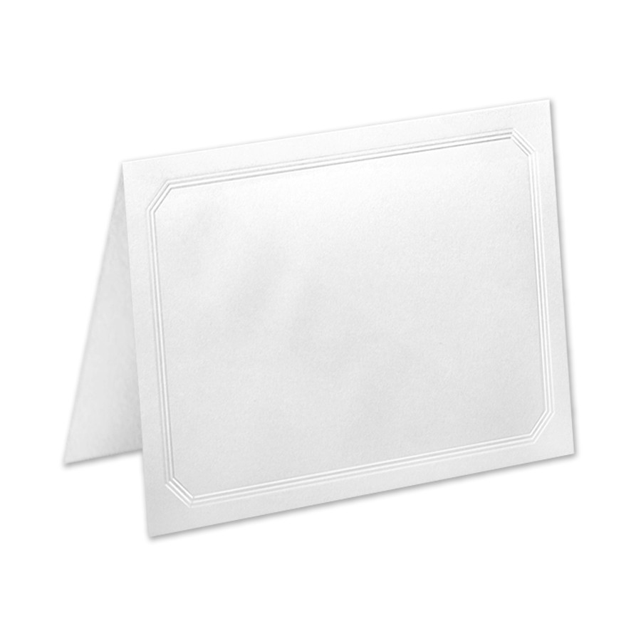 A2 White Frame Classic Crest 65 Cover Solar White A2 Ultra Frame Border Folders Pack Of 50