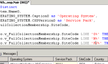 SCCM 2012 Custom Report SQL Query to find out OS details