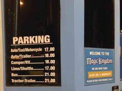 parking fees wdw