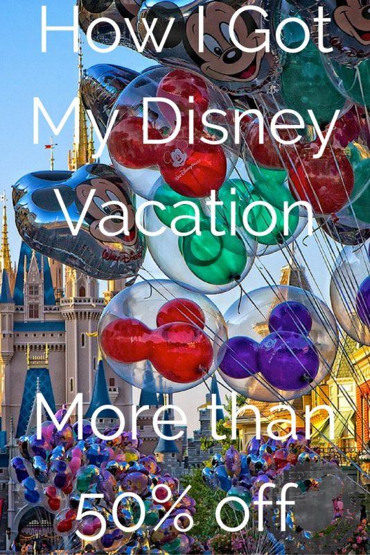 Disney Vacation Half Off