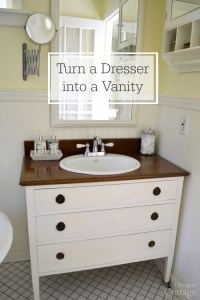 How To Make a Dresser Into a Vanity {Tutorial} | An Oregon ...