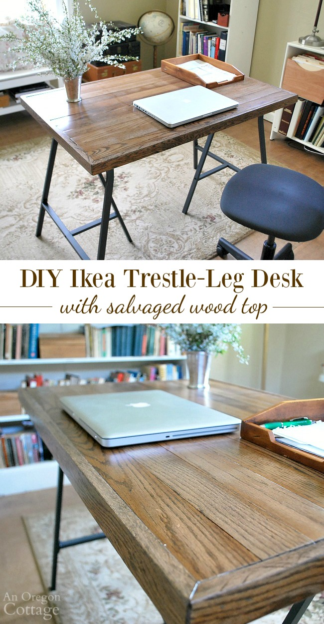 Ikea Trestle Legs How To Make A Desk With Ikea Trestle Legs And Old Wood Flooring