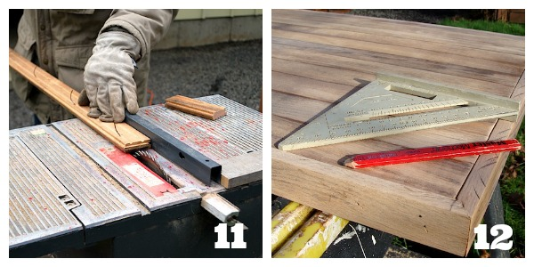 How to make a desk with ikea trestle legs and old wood for Reclaimed wood furniture portland oregon