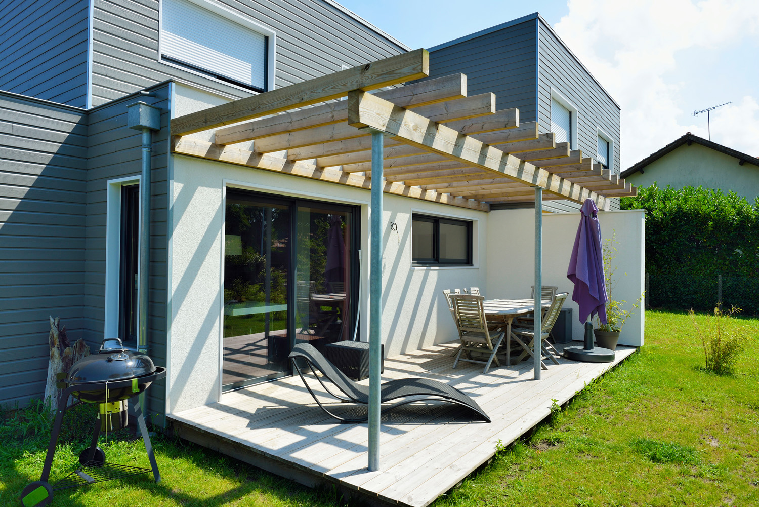 Amenagement Pergola Terrasse Amenagement Terrasse Avec Pergola