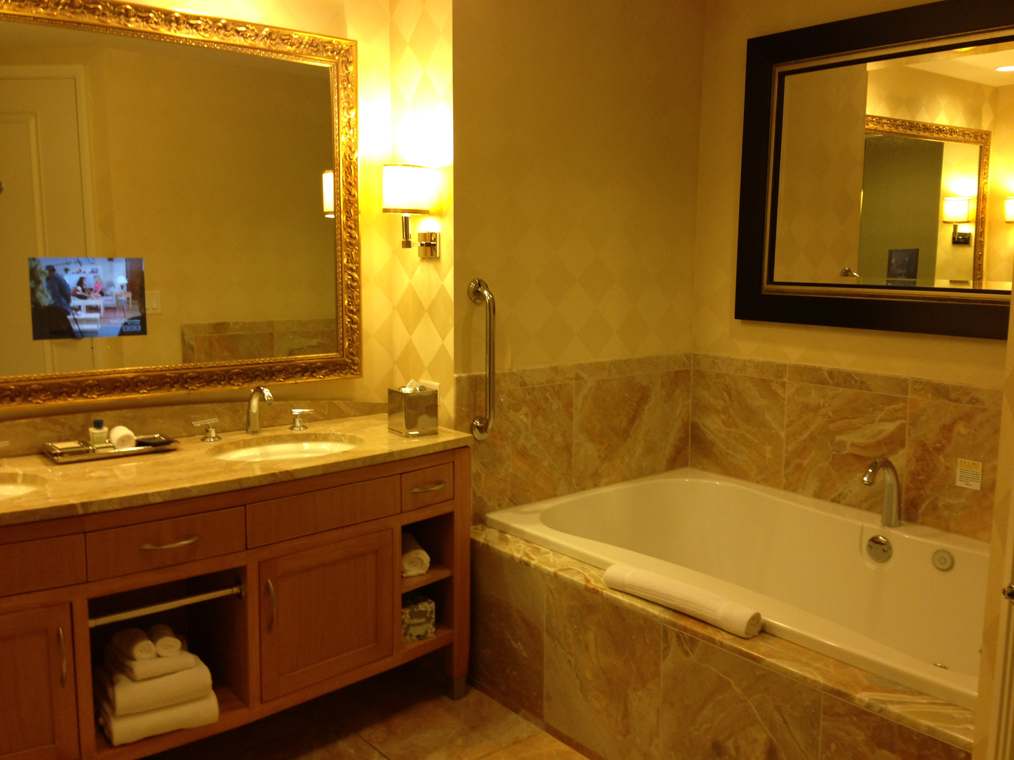 Bathroom Mirrors With Tv Built In Las Vegas Trump International Hotel All The Glitz