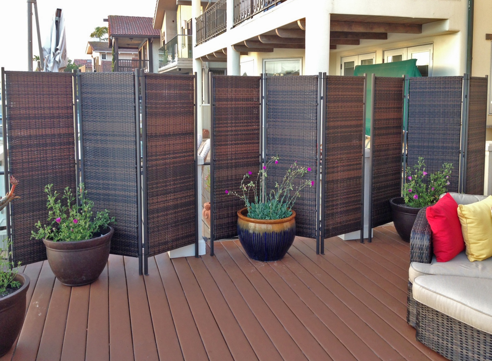 Paravent Mobile Pour Terrasse More Privacy For Your Deck Or Patio Amazing Decks