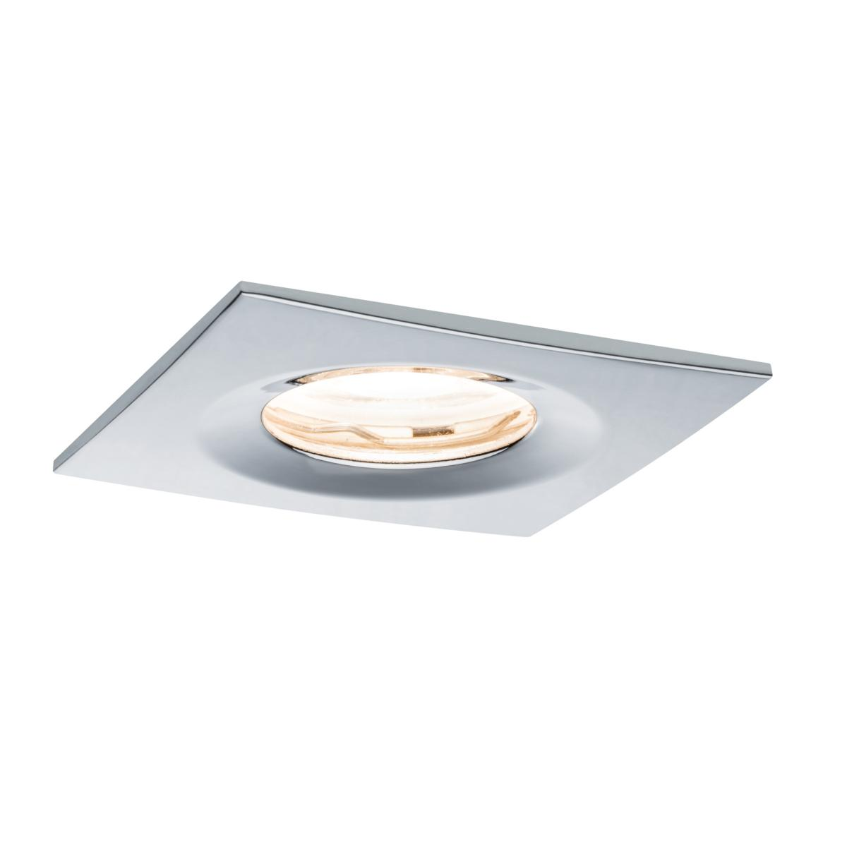 Spot Encastrable Meuble Salle De Bain Spot Led Ip65 Encastrable Dimmable Chromé Carré 7w 230v Paulmann 93630