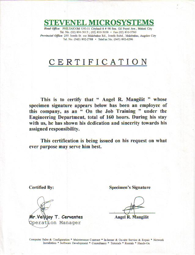 sample of certificate of ojt completion radiovkm