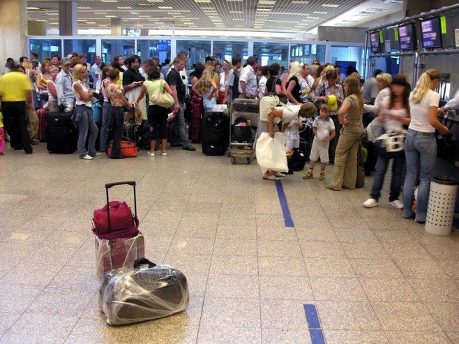 Airport passenger luggage