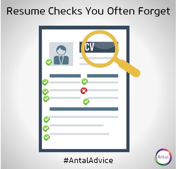 Resume Checks You Often Forget Antal India Recruitment Blog