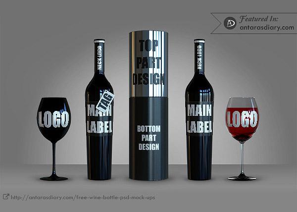 45+ Free Wine Bottle PSD Mockups Antara\u0027s Diary - free wine label design