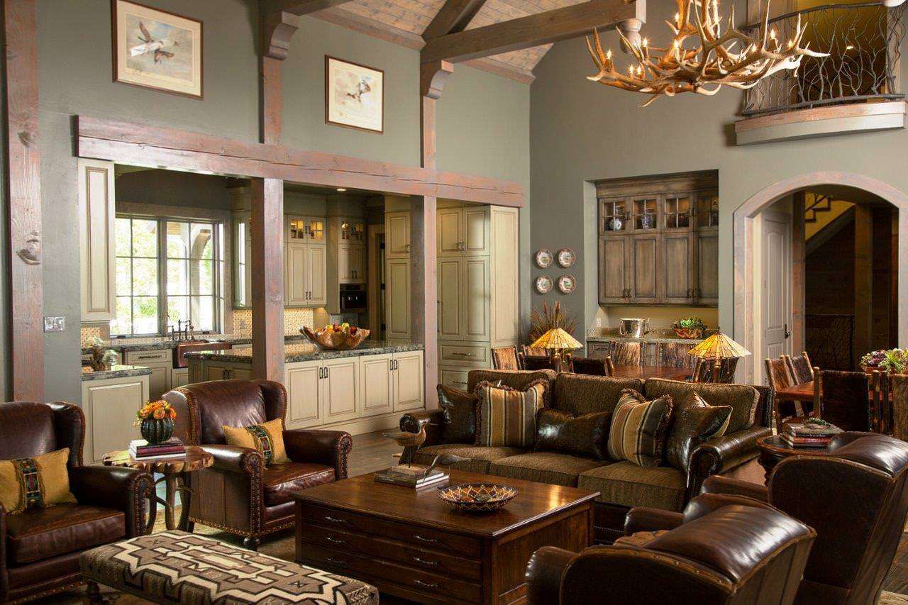 Rustic Family Room Rustic Family Room Anteks
