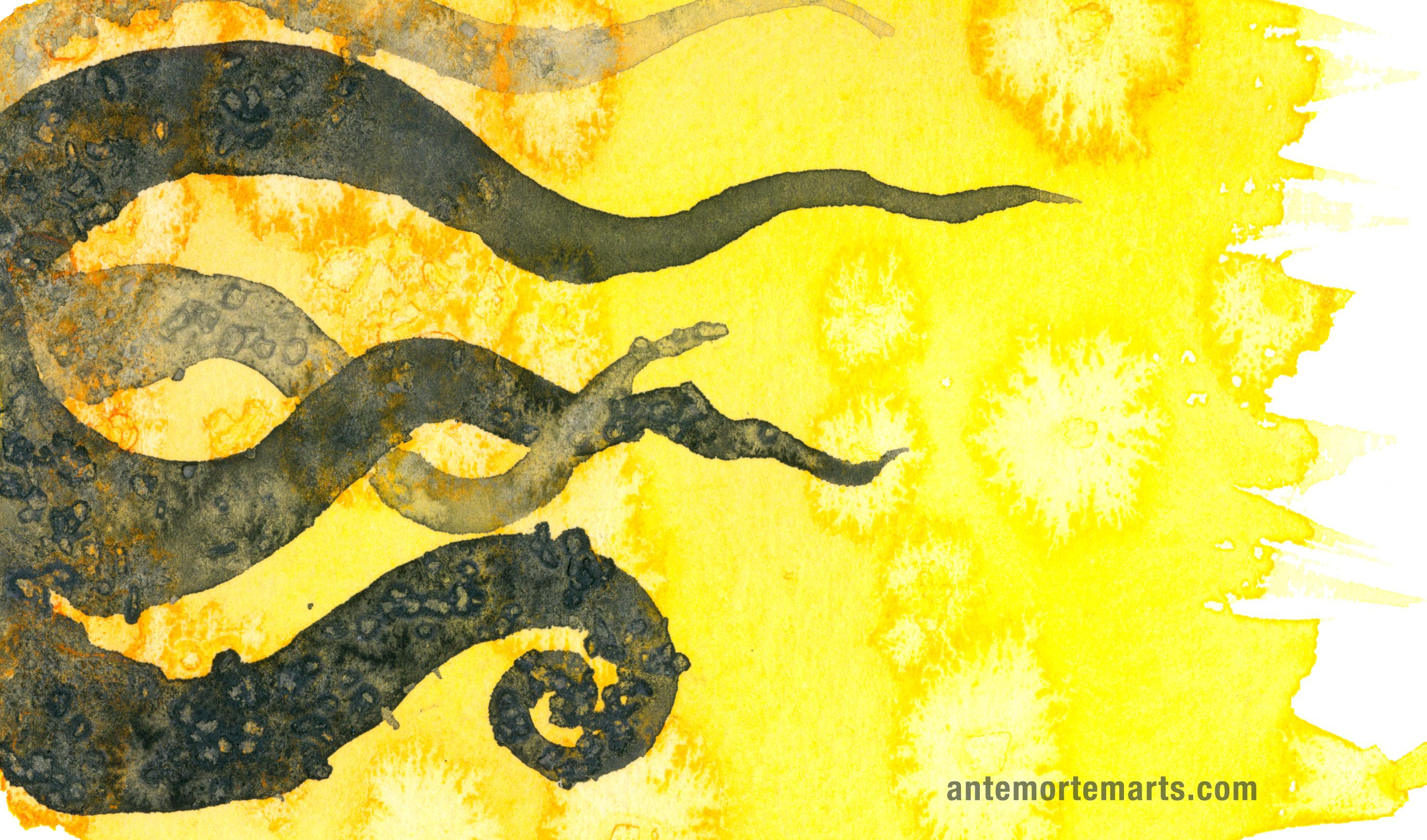 Gold Wallpaper Iphone 4 Tentacle Deeps 9 171 Antemortem Arts Fine Art Amp Custom