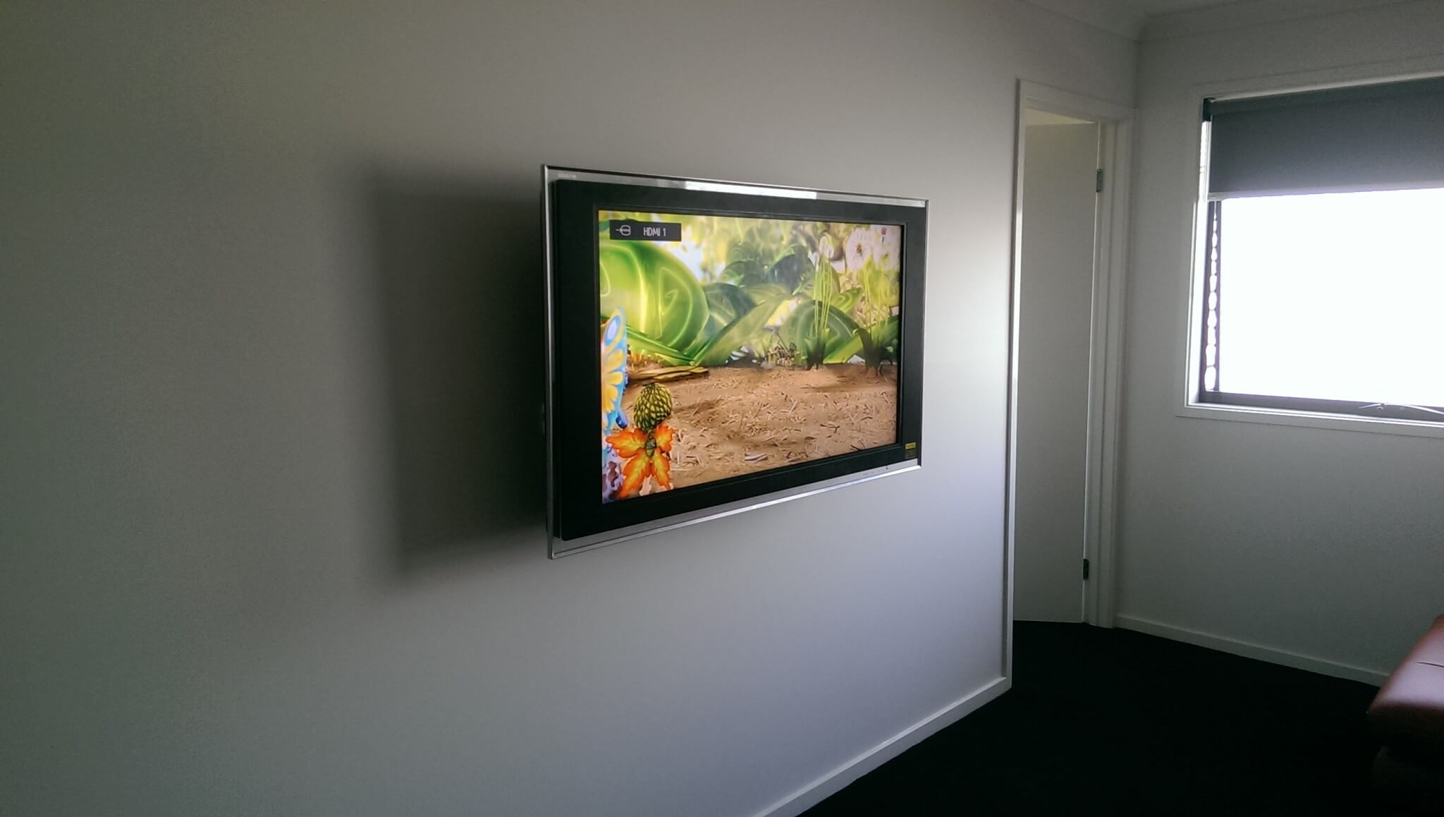 How To Put A Tv On A Wall Tv Installation On Brick Wall In Ascot Vale Antennify