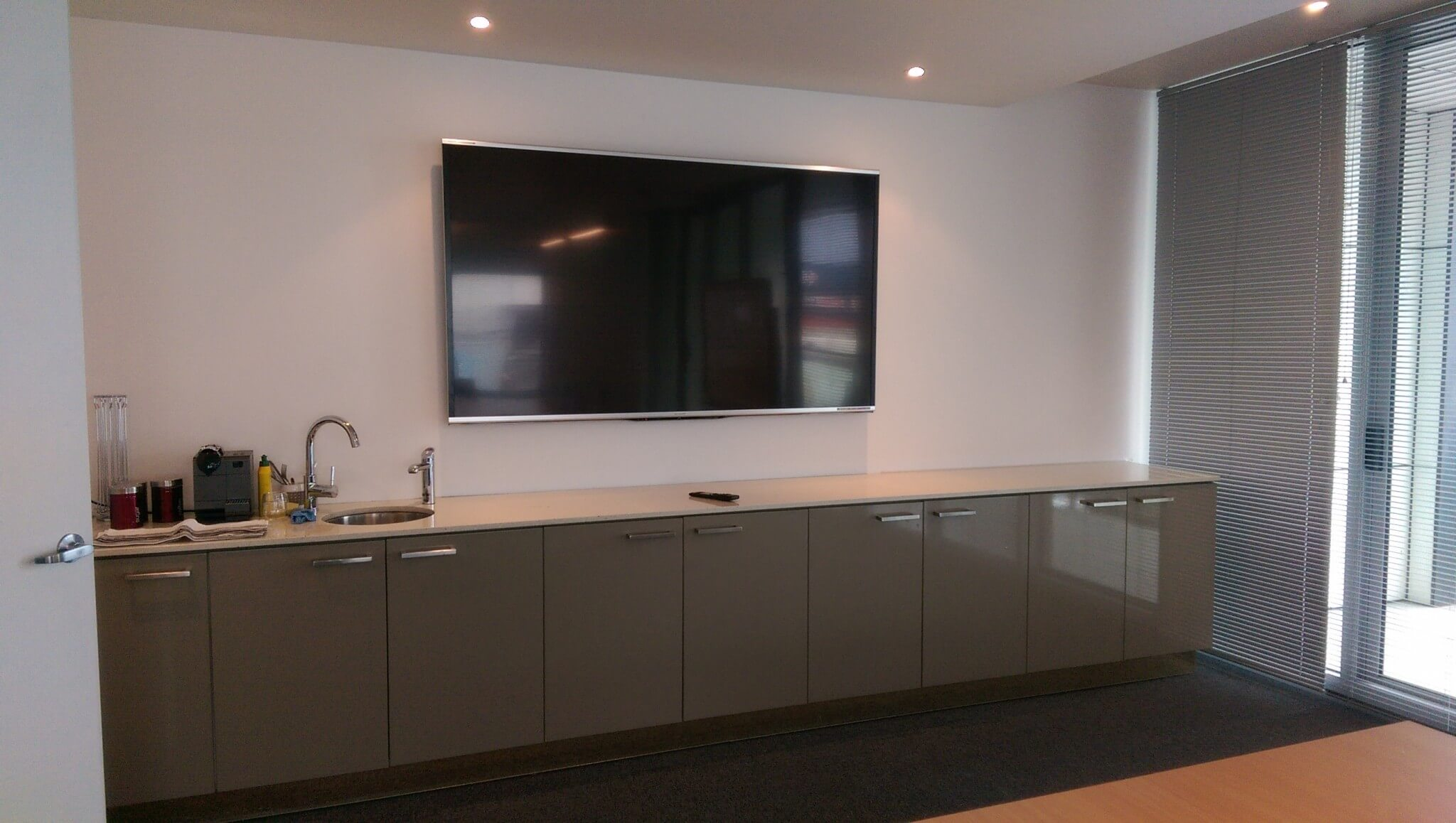 How To Put A Tv On A Wall 80inch Tv Wall Mounting In Boardroom At Derrimut Antennify