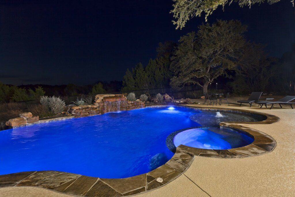Best Backyard Pool Designs Custom Pool Lighting Options And Designs - Anthony