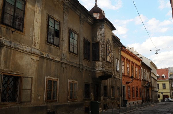 Road and buildings, Zagreb, Croatia