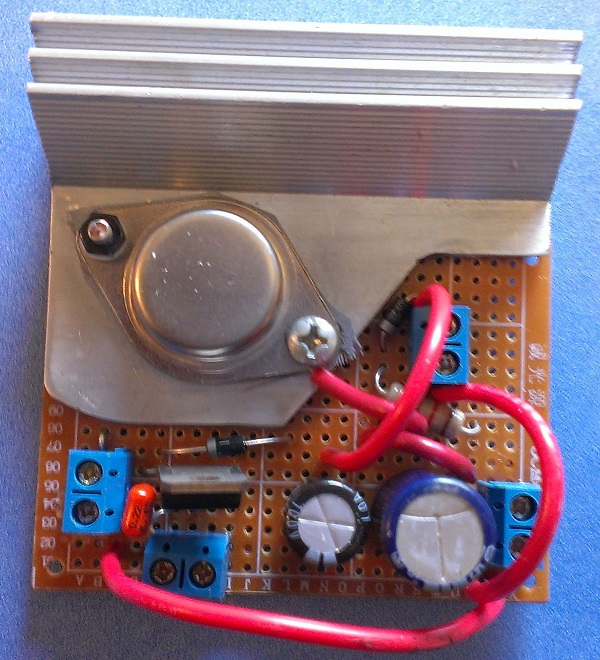 Build a 5 amp portable power supply with an LM338 regulator