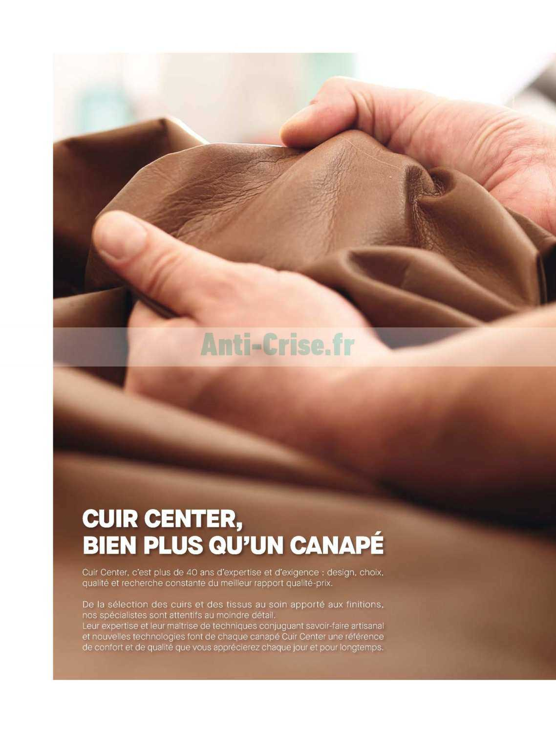 Catalogue Cuir Center Catalogue Cuir Center Du 31 Mars Au 30 Septembre 2019 Catalogues