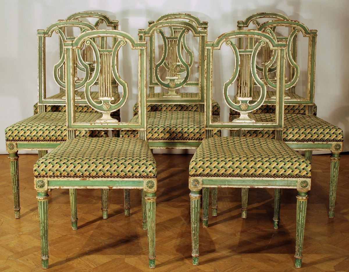 Chaise Style Louis 16 Eight Louis Xvi Style 19th Century Chairs