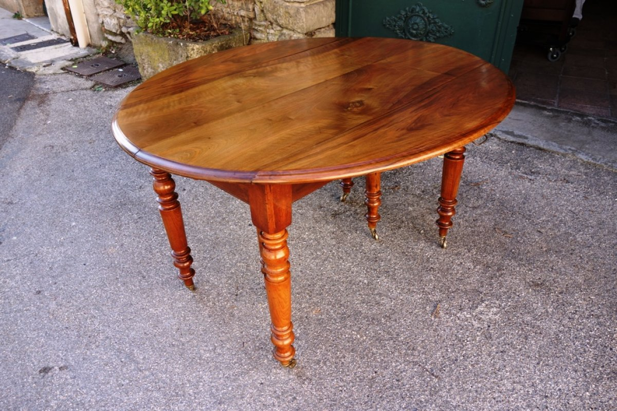 Table Noyer Massif Table Louis Philippe En Noyer Massif Xixe Siècle N 50425