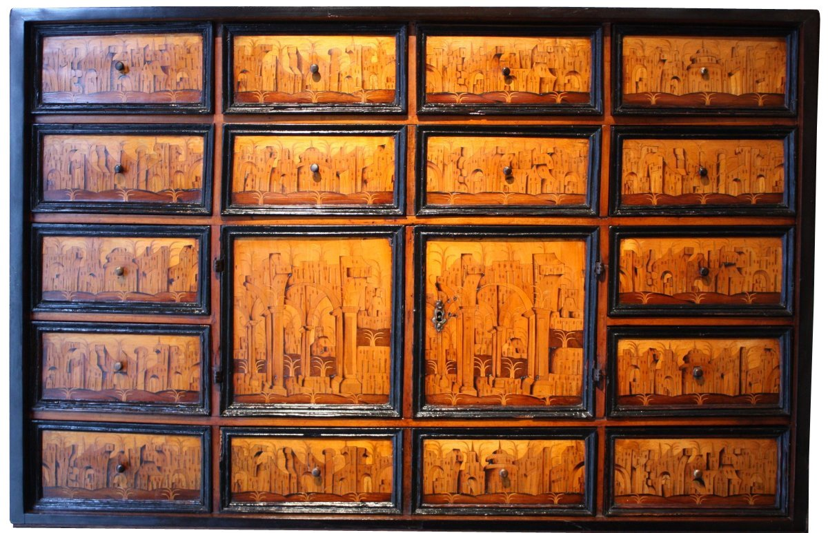 Elements Augsburg South German Marquetry Cabinet Augsburg Early 17th