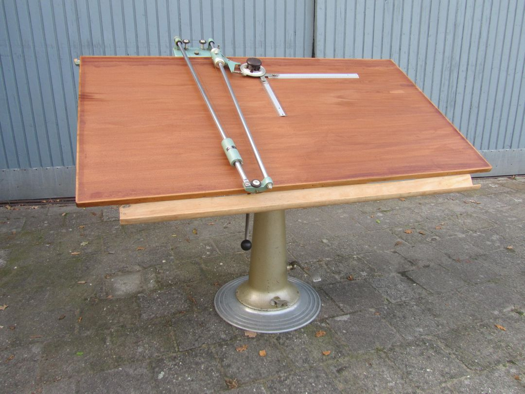 Vintage Industrieel Industrial Architects Vintage Hydraulic Drafting Table By Nike Of Eskilstuna Sweden