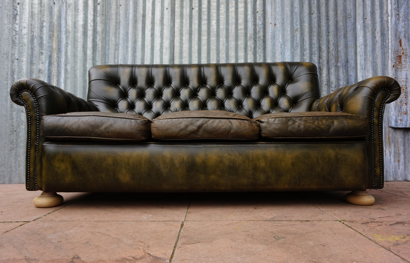 3zits Bank Vintage Leather Chesterfield