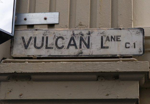 Vulcan Lane Sign