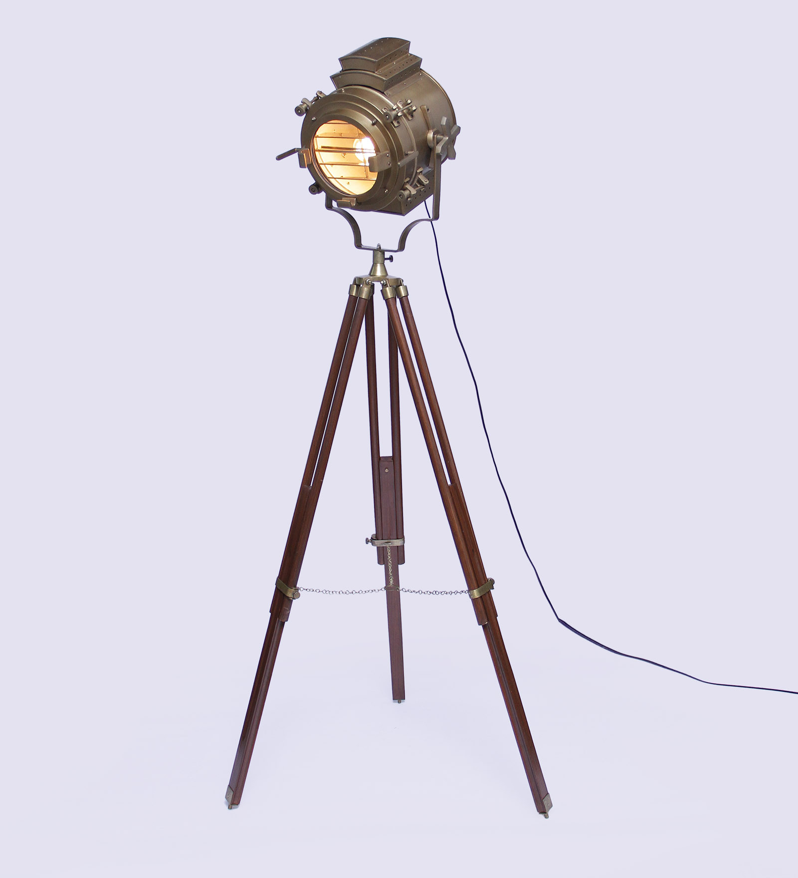 Tripod Floor Lamps Sale Vintage Wooden Tripod Brass Floor Lamp Antikcart