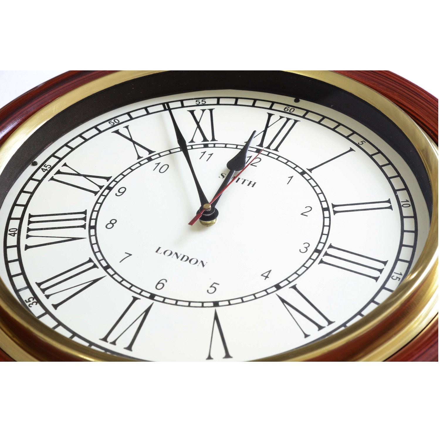 Classical Wall Clocks Teak Finish Classic Wall Clock Decor Antikcart