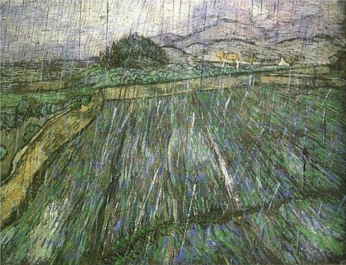 Σταροχώραφο στη βροχή Vincent van Gogh 1889