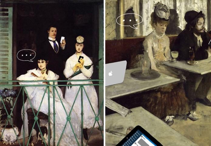 Το μπαλκόνι, Edouard Manet, 1868 | Το αψέντι, Edgar Degas, 1876