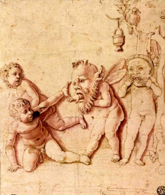 Παιδιά που παίζουν με μάσκες - Andrea Mantegna 1495