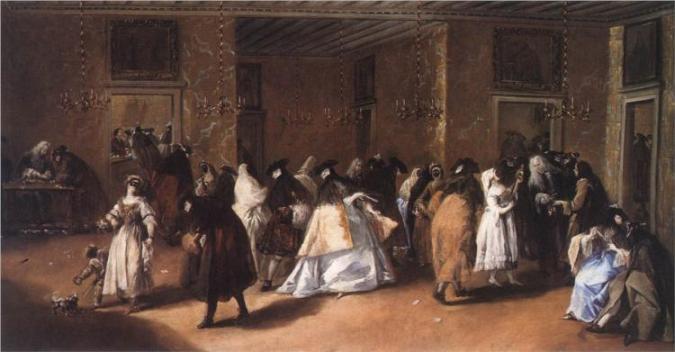 Συνέλευση Μασκοφόρων - Francesco Guardi 1775 (μπαρόκ)