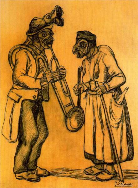 Δύο μασκαράδες -Jose Gutierrez Solana