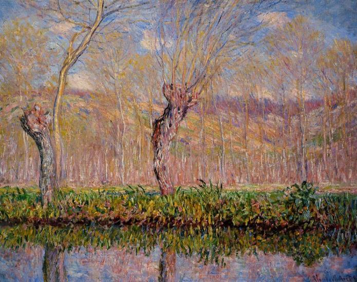 Οι όχθες του ποταμού Epte την άνοιξη - Claude Oscar Monet - 1885
