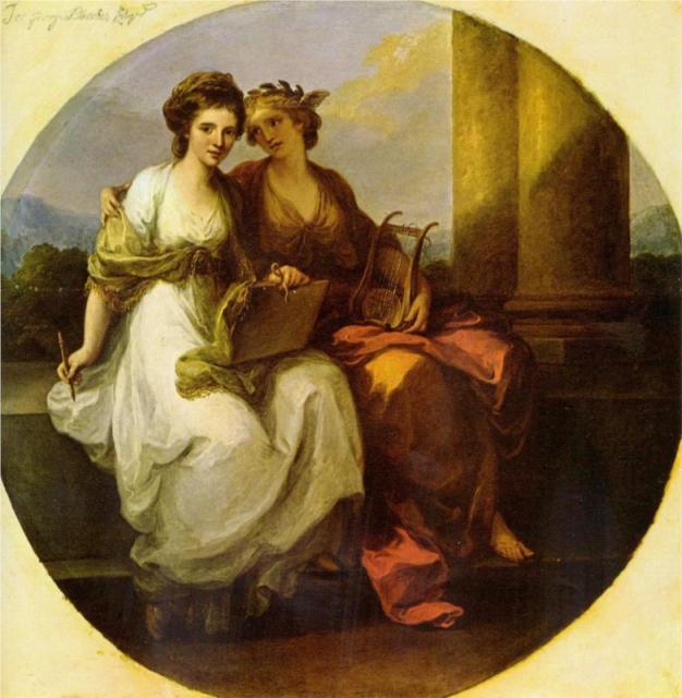 αλληγορία της ποίησης και της μουσικής Angelica Kauffman 1782