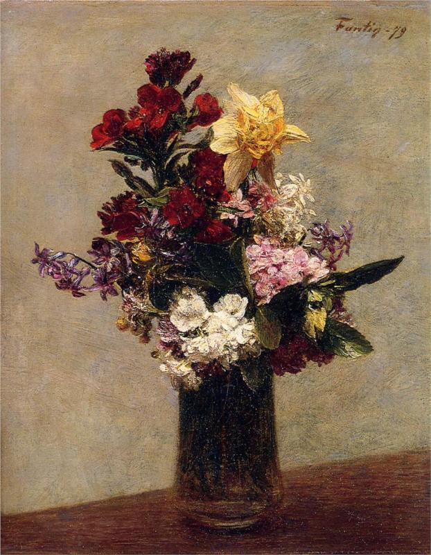 Ανοιξιάτικα λουλούδια Henri Fantin-Latour 1879