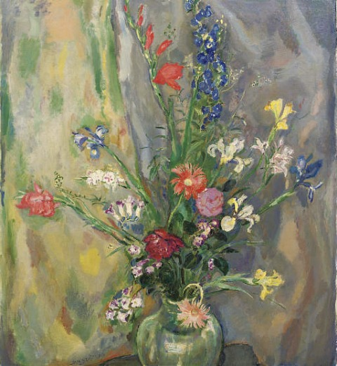 Νεκρή φύση με λουλούδια την άνοιξη Jan Sluyters 1925