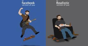 η ψεύτικη ζωή στο facebook