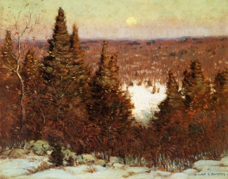 Δεκέμβριος, Ανατολή φεγγαριού  του Clark Greenwood Voorhees - 1908