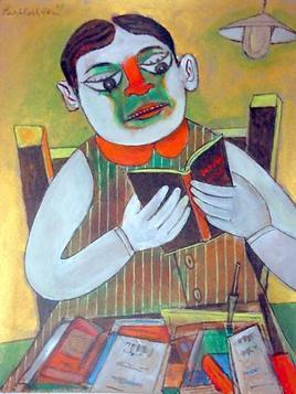 Αγόρι διαβάζει ένα βιβλίο - Paritosh Sen