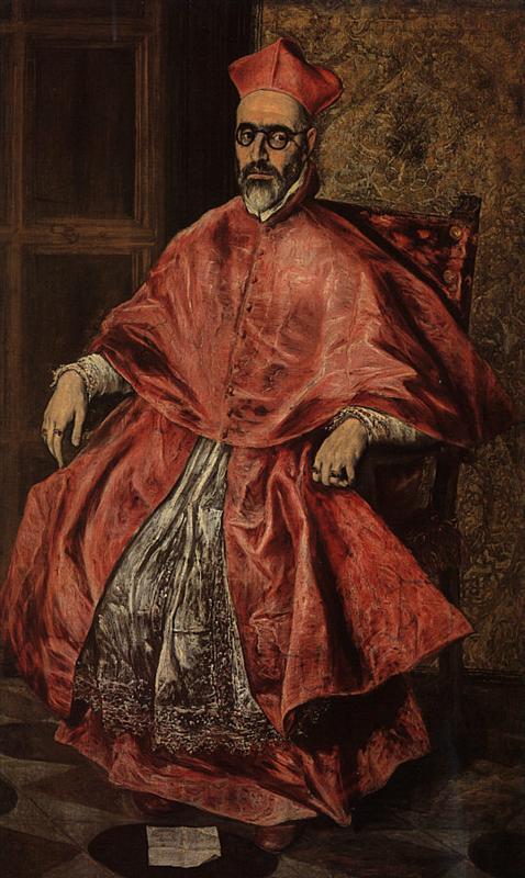 Πορτρέτο ενός Καρδινάλιος (Πιθανώς  του Δον Φερνάντο Νίνιο ντε Γκεβάρα) 1598